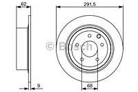 """Гальмівний диск nissan qashqai r """"07 (производство Bosch ), код запчасти: 0986479362"""