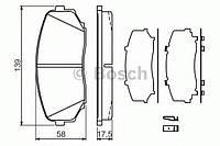 """Гальмівні колодки дискові mazda cx-7/cx-9 """"f (производство Bosch ), код запчасти: 0986494375"""