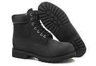 Мужские ботинки Timberland 6 inch Black (Тимберленд) черные