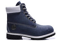 Мужские ботинки Classic Timberland 6 inch Blue (Тимберленд) синие