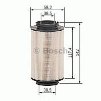 Фильтр топливный Audi, VW, Skoda (производство Bosch ), код запчасти: 1457070007