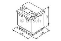 Стартерная аккумуляторная батарея (производство Bosch ), код запчасти: 0 092 S40 001