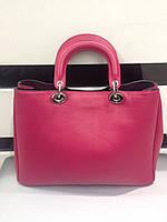 Брендовая женская сумка Dior Диор малиновая