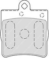 Колодки гальмівні дискові (производство Ferodo ), код запчасти: FDB1311