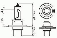 Лампа накаливания H7 12V 55W PX26d Xenon Blue (производство Bosch ), код запчасти: 1987302075