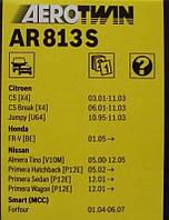 Щетка стеклоочистителя 650 / 450 AEROTWIN AR813S (производство Bosch ), код запчасти: 3397118912