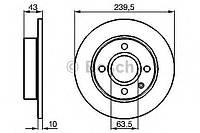 Гальмівний диск ford escort/orion, fiesta f (производство Bosch ), код запчасти: 0986478501