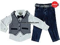 Нарядный  комплект-тройка для мальчиков 1, 2, 3, 4 года.Турция!!!Нарядная одежда на мальчика
