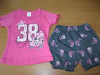 Детский летний костюм  розочки футболка+ шорты для девочки 1-3 года Турция - пенье