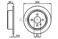 Гальмівний диск bmw e30 r (производство Bosch ), код запчасти: 0986478034