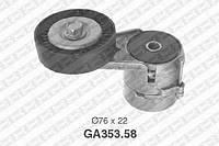 Натяжной ролик, поликлиновой ремень Opel 1340555 (производство NTN-SNR ), код запчасти: GA353.58
