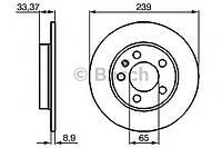 Гальмівний диск audi skoda vw a3, tt, octavia bora, golf iv r (производство Bosch ), код запчасти: 0986478481