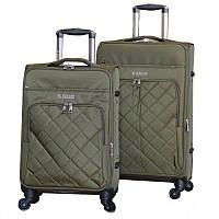 Удобный на колесах чемодан двойка (Green), 510353