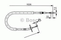 Трос гальма (производство Bosch ), код запчасти: 1987477859