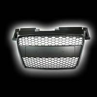 Декоративная решетка радиатора AUDI TT `06-, с рамкой под номер, пластик (Honey) черный