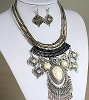 Набор украшений Колье и серьги Indi серебро