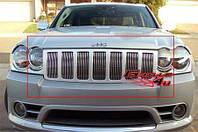 Декоративные вставки в решетку радиатора Jeep Grand Cherokee алюминий