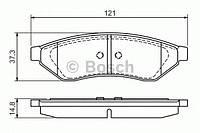 Колодка тормозная Chevrolet EPICA, EVANDA 2.0, 2.5 задн. (производство Bosch ), код запчасти: 0986494172