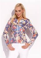 Жакет, пиджак женский на молнии с цветочным узором Zaps ANGELA