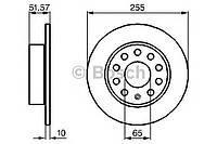 Диск тормозной Skoda YETI, VW Golf 6 задн. (производство Bosch ), код запчасти: 0986479099