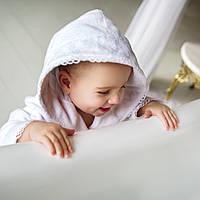 Детский махровый халат с кружевом Марипоза от Guddini от 12-24 месяцев