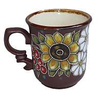 """Глиняная посуда """"Чашка для кофе Букет"""""""