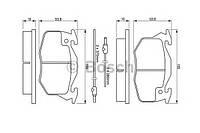Гальмівні колодки дискові citroen zx ax/peugeot 306 -97 (производство Bosch ), код запчасти: 0986460983