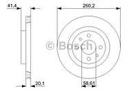 Диск тормозной ВАЗ 2112 передний вентилируемый (производство Bosch ), код запчасти: 0986479346