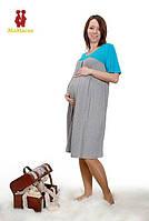 Ночная рубашка для будущих мам ТМ МаМасик