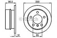 Диск тормозной Mercedes SPRINTER, VW LT 28-35, LT 28-46, задн. (производство Bosch ), код запчасти: 0986478863
