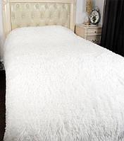 Покрывало на кровать с длинным ворсом 220х240 цвет белый