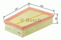 Повітряний фільтр 0138 renault fluence,grand scenic iii,megane iii 1,4-1,9 05- (производство Bosch ), код запчасти: F026400138