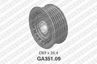 Ролик приводного ремня Mercedes 000 202 00 19, VAG 059 903 341 (производство NTN-SNR ), код запчасти: GA351.09