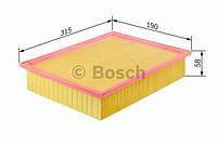 Фильтр воздушный VW MULTIVAN, TRANSPORTER (производство Bosch ), код запчасти: 1457433331