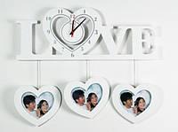 Часы настенные Love белые