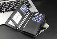 Черный, Коричневый портмоне клатч BAELLERRY