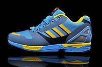 Мужские кроссовки Adidas Originals ZX 8000 Flux (адидас флюкс) голубые
