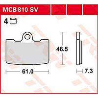 Buell XB12S/1125R тормозные колодки TRW / Lucas MCB810SV
