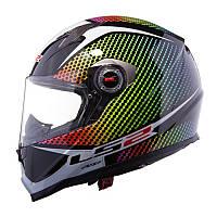 Шлем мото LS2 FF322 Wardots, Black Iris, XS
