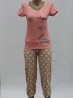 Пижама с бриджами в горошек