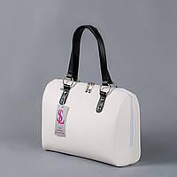 Белая сумка №1342wn3 женская классическая прямоугольная