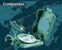 Туристический компас, инженерный компас, жидкостный компас, компас TSC-069, метал.корпус, +чехол, ударозащищен