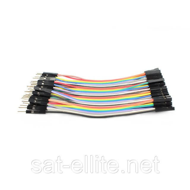 10x Dupont Дюпон кабель папа-мама 20см для Arduino