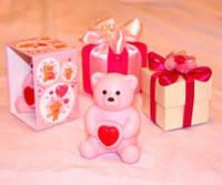 Мыло подарочное ручной работы «Медвежонок с сердечком»