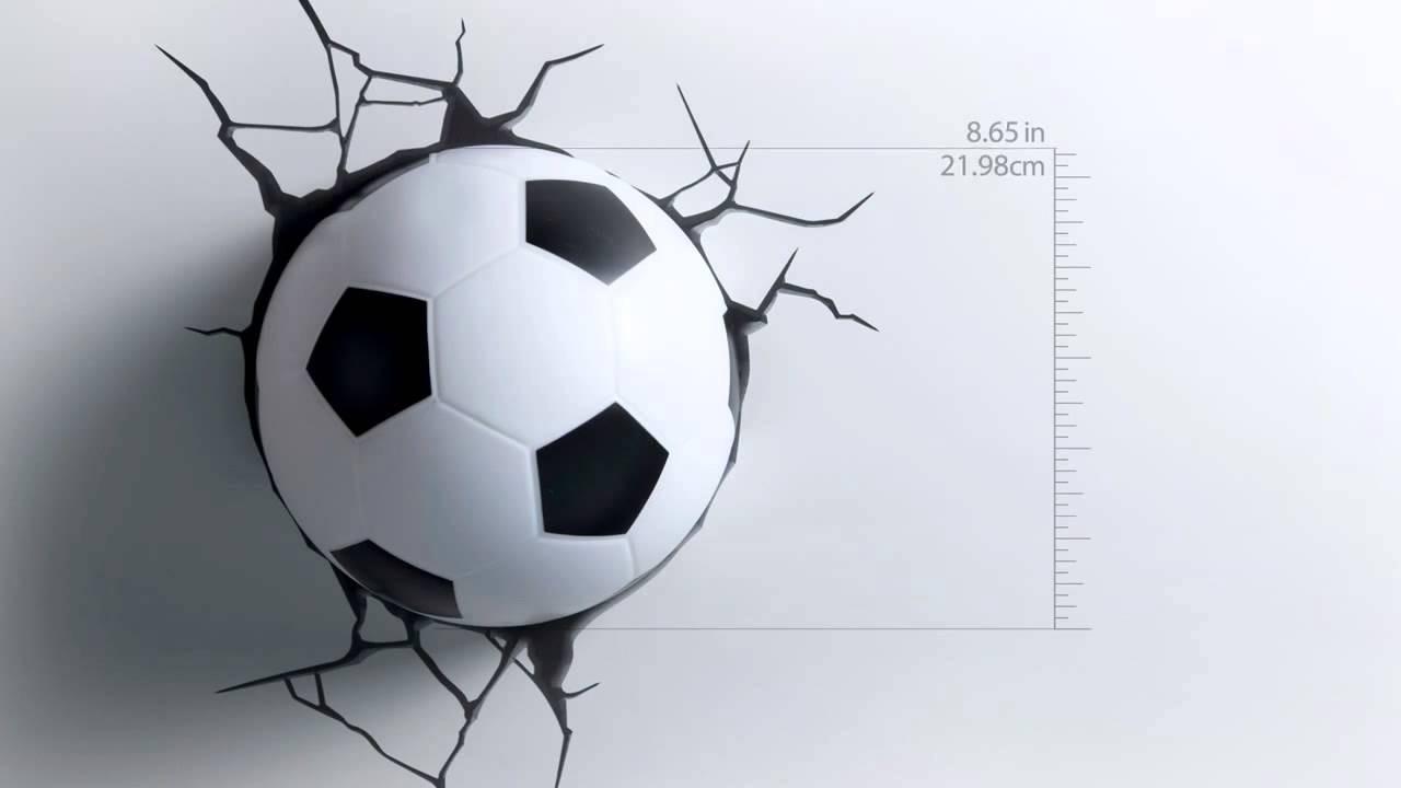 Лампа Настольная Футбольный Мяч Зелёная 836721