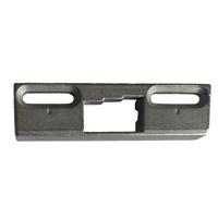 Ответная планка дверного шпингалета плоская