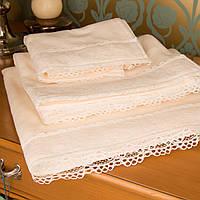 Набор махровых полотенец с кружевом Марипоза от Guddini 032