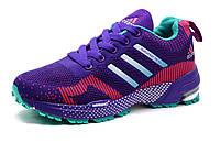 Кроссовки Adidas Marathon TR 15, женские, фиолетовые, розовые вставки, фото 1