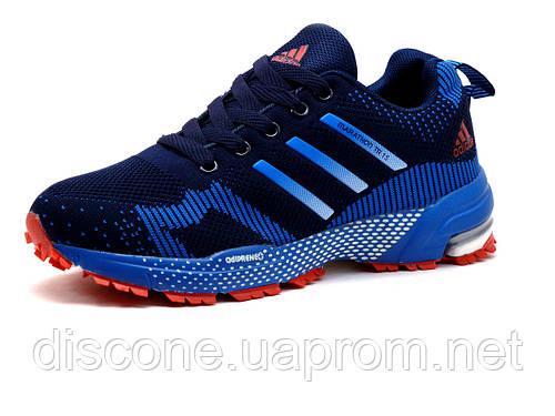 Кроссовки Adidas Marathon TR 15, унисекс, синие, голубые вставки