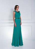 Превосходное вечернее платье с красивым декольте на спине, украшенное милыми бусинами